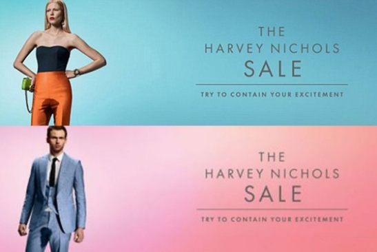 Harvey Nichols wet patch sale ad